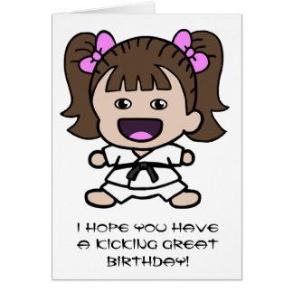 Girl's Karate Birthday Card
