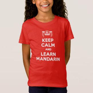 Girls Keep Calm and Learn Mandarin Red T-shirt