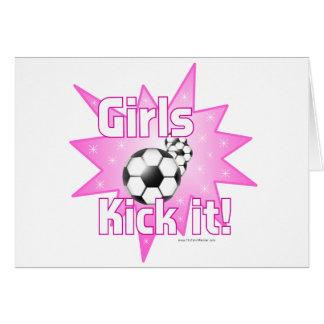 Girls Kick it Card