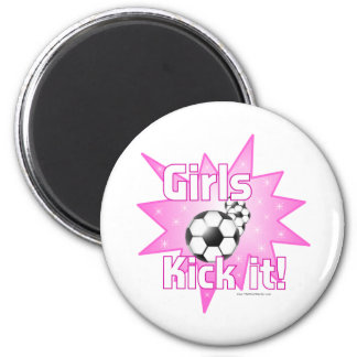 Girls Kick it Magnets
