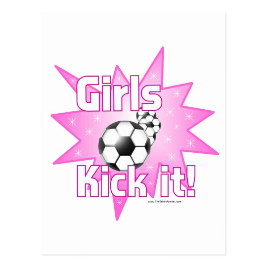 Girls Kick it Postcard