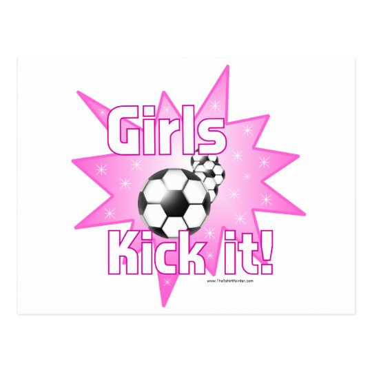 Girls Kick it Postcard