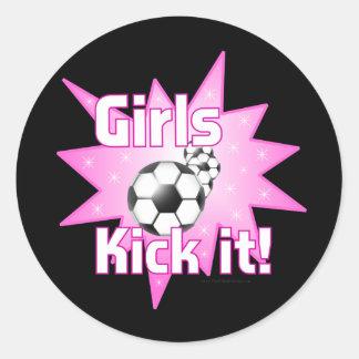 Girls Kick it Stickers