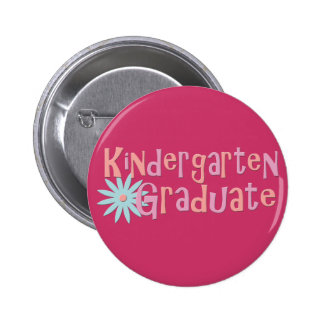 Girl's Kindergarten Graduation Gifts Pinback Buttons