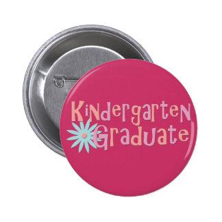 Girl's Kindergarten Graduation Gifts Pinback Button