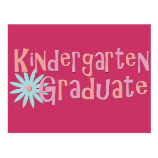 Girl's Kindergarten Graduation Gifts Postcard