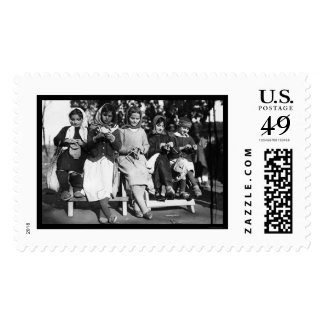 Girls Knitting in Albania 1923 Postage Stamp