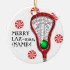 Girls Lacrosse Ceramic Ornament