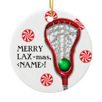 Girls Lacrosse Ceramic Ornament
