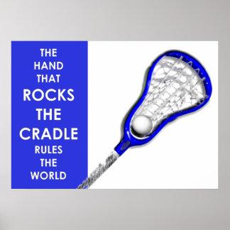 Girls Lacrosse Poster