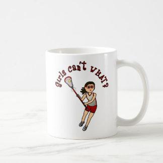 Girls Lacrosse Red Coffee Mug