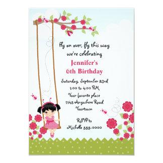 Girls Ladybug Birthday Card