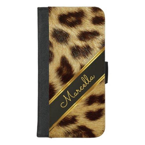 Girls Leopard Faux Fur Monogram Mod iPhone 8plus Phone Case