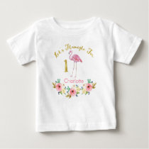 Girls Lets Flamingle 1st Birthday Shirt