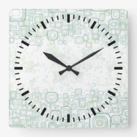 Girl's Life: Rainy Day Background Square Wall Clock