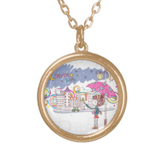 Girl's Life: Rainy Day Gold Plated Necklace