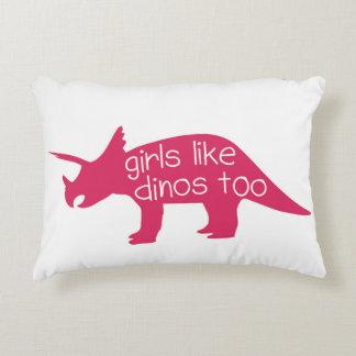 Girls Like Dinos Too - Decor Pillow