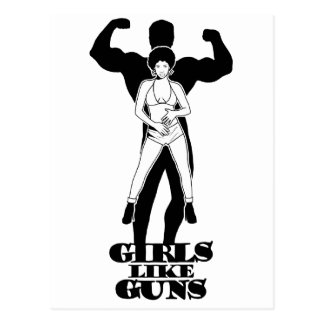 Girls like guns postcard