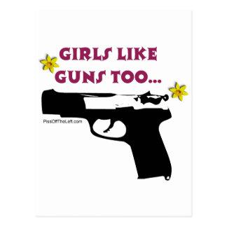 Girls Like Guns Too Postcard