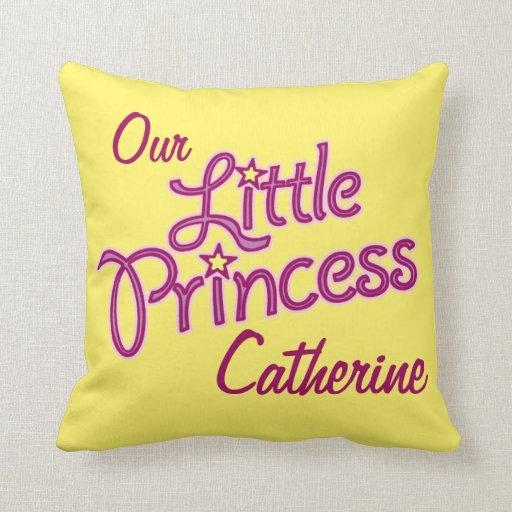 Girls little star princess name & photo pillow