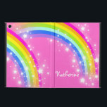 "Girls long name rainbow pink ipad air powis case<br><div class=""desc"">Perfect to protect your girls new ipad air. Add your name up to 9 letters to this folio style ipad case. Currently reads Katherine. This original rainbow graphic case is designed by Sarah Trett.</div>"