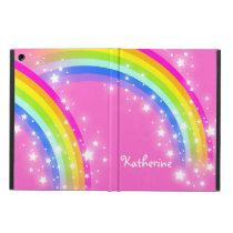 Girls long name rainbow pink ipad air powis case