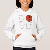 Girls LOVE Basketball Player Cute Sports Hoodie
