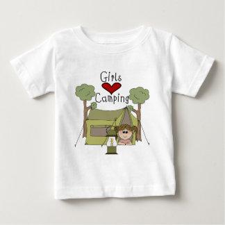 Girls Love Camping Baby T-Shirt
