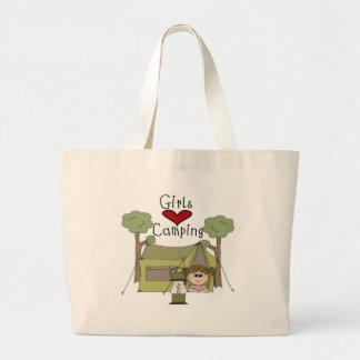 Girls Love Camping Tote Bags