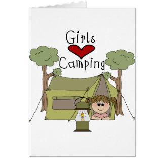 Girls Love Camping Card