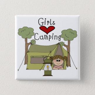 Girls Love Camping Pinback Button