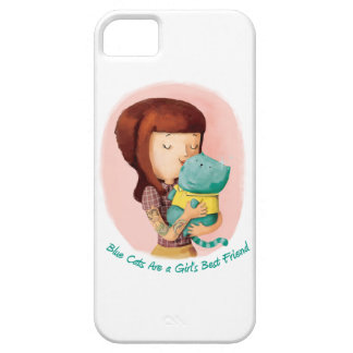 Girls love Cats. Blue Cats iPhone 5 Cover