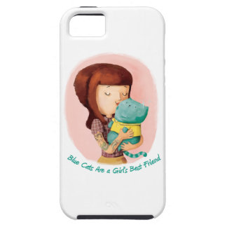 Girls love Cats. Blue Cats iPhone 5 Case