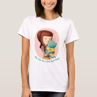 Girls love Cats. Blue Cats T-Shirt
