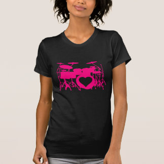 Girls Love Drums Dark T-Shirt