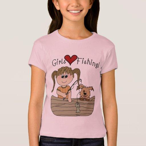 Girls love fishing t shirt zazzle for Girls fishing shirts