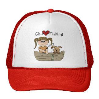 Girls Love Fishing Trucker Hat