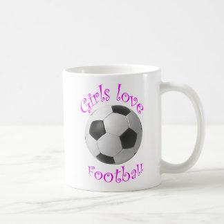 Girls love football art gifts coffee mug