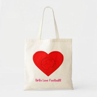 Girls Love Football Tote Bag
