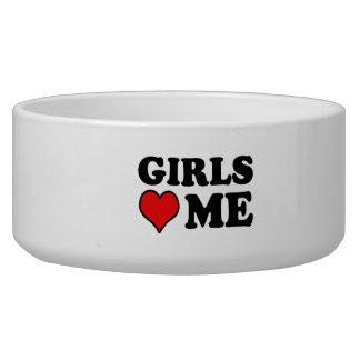 Girls Love Me Dog Water Bowls
