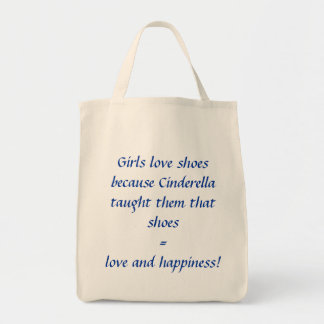 Girls love shoes because Cinderella taught them... Canvas Bag