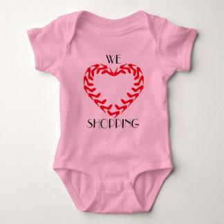 GIRLS LOVE SHOPPING BABY BODYSUIT