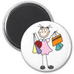 Girls Love Shopping Magnet Fridge Magnets