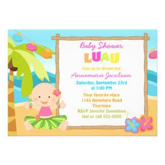 Girls Lua Baby Shower Custom Invite