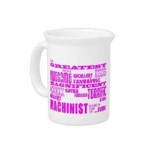 Girls Machinists : Pink Greatest Machinist Pitchers
