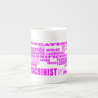 Girls Machinists : Pink Greatest Machinist Porcelain Mugs