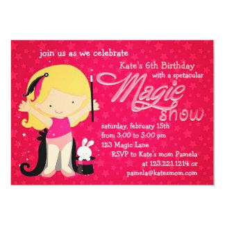 Girls Magic Theme Birthday 5x7 Paper Invitation Card