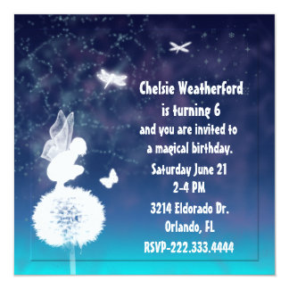 Girl's Magical Fairy Birthday Party Invitation