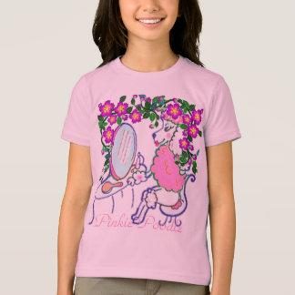 Girls' Medium Pinkie Poodle Tee Shirt