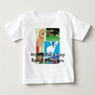 Girl's Medium White T-Short with eBook characters Baby T-Shirt